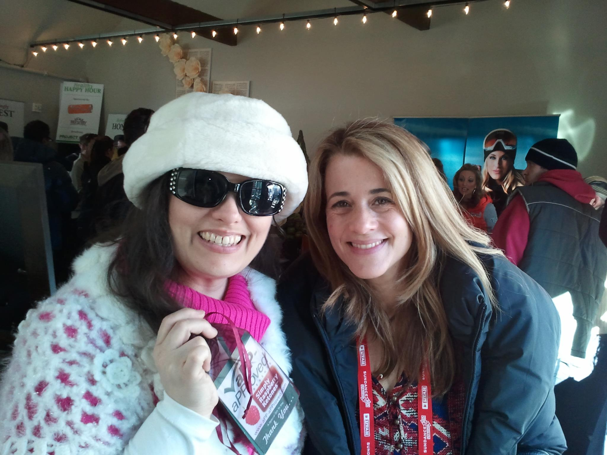 Here is Claudine Ohayon getting her Simply Raspberry Ketones! She's in the movie Concussion which premiered here at Sundance